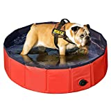 Yaheetech Foldable PVC Pet Swimming Pool Bathing Tub- S: 32 x 8''
