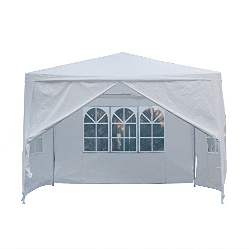 Tenozek 10' X 10' Canopy Tent, Portable Outdoor Gazebo Weddin Party Tent with 4 Removable Walls (10′ x 10′ Canopy Tent)