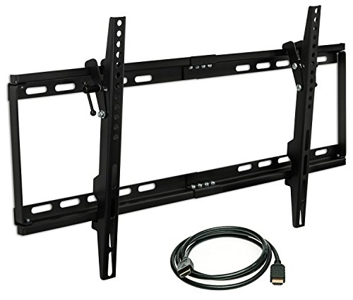 Kit Shift Factory (Mount-it! MI-1121M-CBL TV Wall Mount Bracket Low Profile Tilt Design for 32 to 65 Inch LCD/LED/4K TVs, VESA 600x400 mm (MI-1121M))