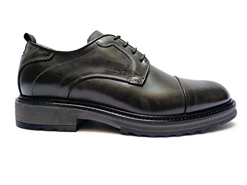 Nero Giardini 5510 scarpe stringate da uomo in pelle col. Antracite, num. 40