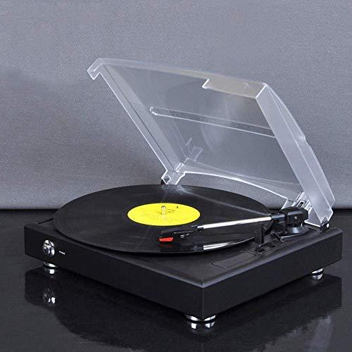 LYYJIAJU Music Box Retro Vinyl Record Player Antique Phonograph Machine Potting Machine, Hi-Fidelity, Plays 33.75,48 Position Vinyl Records, Lp Records Good Material Black