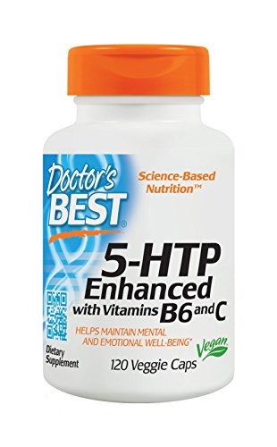 5 Htp B6 - Doctor's Best 5-HTP Enhanced with Vitamins B6 and C, Non-GMO, Vegan, Gluten Free, Soy Free, 120 Veggie Caps
