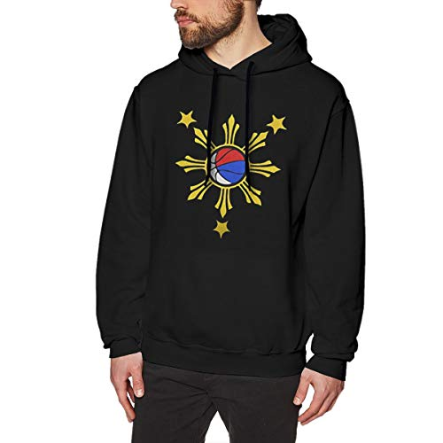 Re-emerwm Men's Casual Style Hiking Sweatshirt Printed with Basketball Filipino Philippine Flag 3XL Black]()