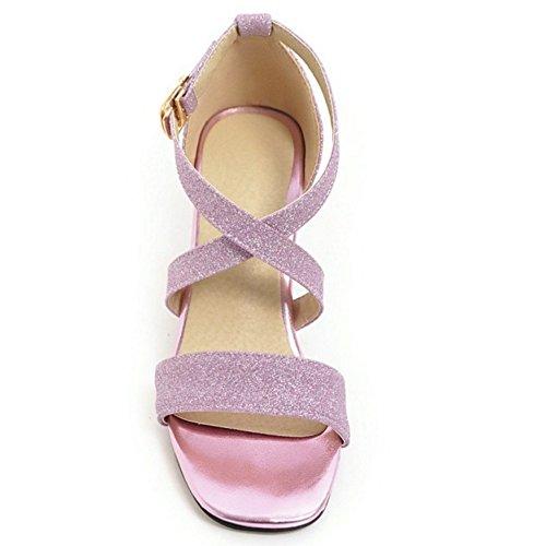 Sandalias 87 Mujer Ancho Tacon Purple Coolcept Moda YWFwUqqI