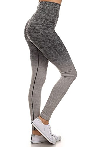 Viosi Womens Fitness Power Flex Yoga Pants Leggings Grey Medium