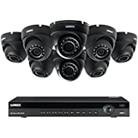 Lorex 8 channel NR9082 4K home security system with 8 weatherproof 4MP dome LNE4422B IP cameras
