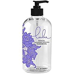Lulu Lavender Massage Oil. With Essential Oils for Therapeutic Massaging 16oz