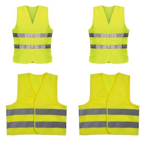 Childrens Hi Vis Reflective Vests & Adults Vests Family Ideal for European Travel Kit Mike Davies Trading