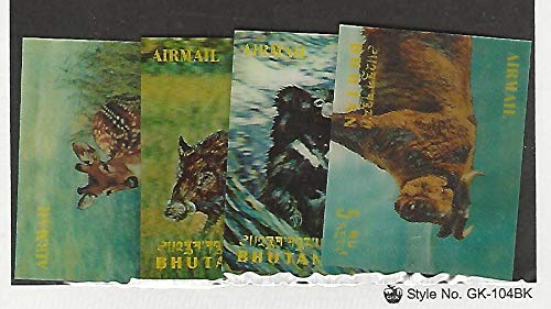 Bhutan, Postage Stamp, 116I-116L Mint LH, 1970 Animals, JFZ ()