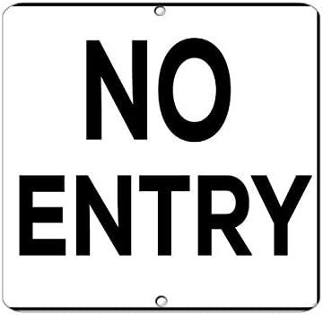 "Lionkin8 Aluminium-Metallschild ""No Entry Activity Pool Rules Marker"", 20,3 x 30,5 cm"