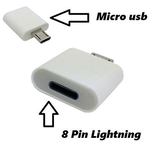 504 opinioni per EASYPLACE Adattatore da Micro-USB Maschio a Lightning 8-Pin Femmina Bianco-