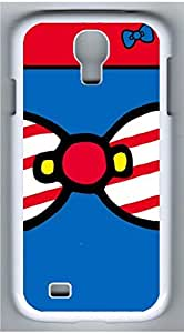 Samsung Galaxy S4 I9500 White Hard Case - Blue Red Bow Galaxy S4 Cases by icecream design