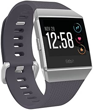 Fitbit Ionic GPS Smart Watch, Blue-Gray/Silver, One Size (S & L Bands Included) (Renewed)