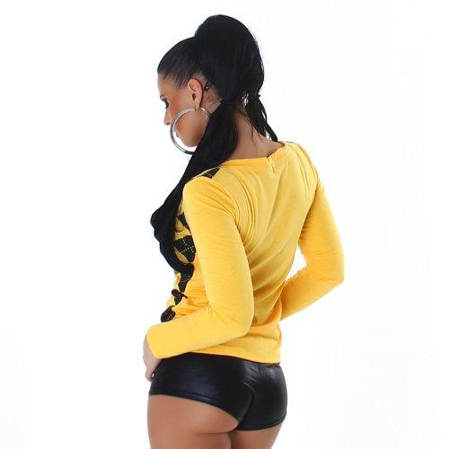 maglione donna Giallo Controllato Della da Jela maglione uomo V scollo a London con wISRqxa