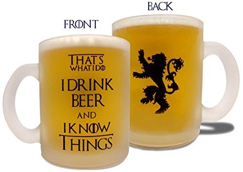 I Drink Beer & I Know Things - 10oz Beer Mug - Game of Thron
