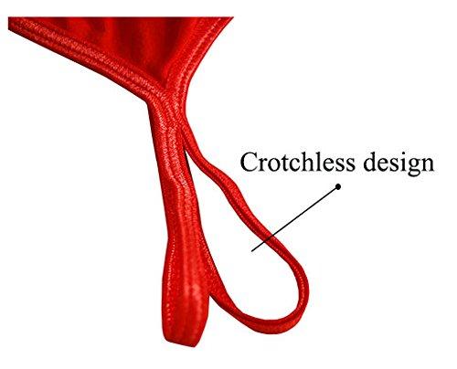 Esquki Mens Cotton Open Crotch Underwear T Back Thong (3 Colors) by Esquki (Image #5)