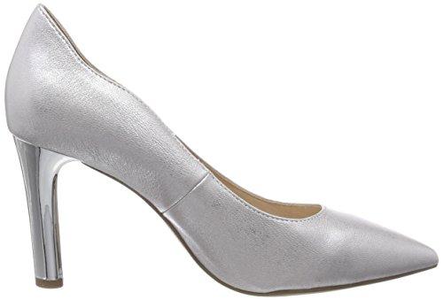 22402 metallo Caprice donna argento Pumps da Silver 920 6qddOaw