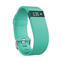 Fitbit Charge HR Wireless Activity Wristband, Teal, Large
