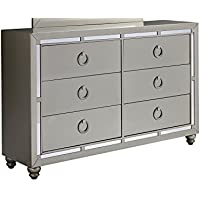 Global Furniture RILEY (1621) DRESSER, Silver
