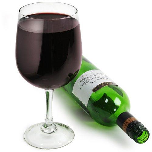 Giant Weinglas-Wein Flasche in ein Glas Glas   Geschenkbox   hält eine Flasche Wein 750ml/75cl-Bar @ drinkstuff XXL Wein Glas