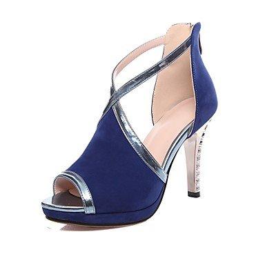 LvYuan Mujer-Tacón Stiletto-Otro Confort Innovador Talón Descubierto Gladiador Suelas con luz Zapatos del club-Sandalias-Boda Oficina y Trabajo Black