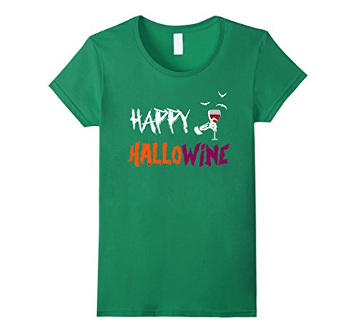 Happy Hallowine! Funny Wine Lovers Tee for Halloween