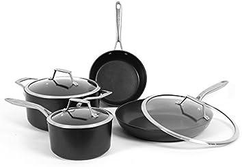TECHEF - Onyx Collection Nonstick Cookware Set, with New Teflon Platinum Non-Stick Coating (PFOA Free), 7-Piece
