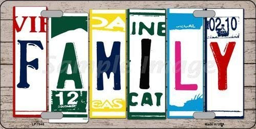 Family License Plate - 1