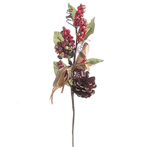 Factory Direct Craft Group of 6 Charming festive Holiday Artificial Holly Leaf and Berry Picks for Home Decor, Crafting and Displaying