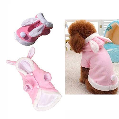 Easter Bunny dog Costume puppy hoodies dog clothes pet Suit for small dogs cats (color : pink, size : m) ()