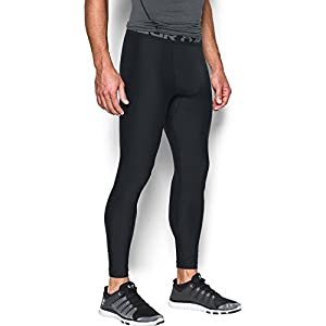 Under Armour Men's HeatGear Armour Compression Leggings, Black/Graphite, Large