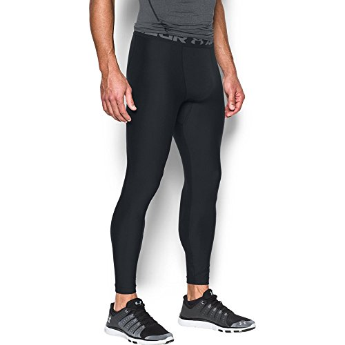Under Armour Men's HeatGear Armour Compression Leggings, Black/Graphite, X-Large