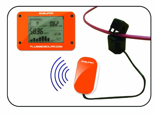 Wireless Solar Power Meter for Solar Power (AC), Monitor Displays Live KW (Kilo-Watts of AC Power Generation), Records the Solar PV Electricity Prodtion in Kwh, Shows Money Savings and Co2 Avoiaded. Used also for Monitoring Electricity Generation from Win by Plugged Solar (Image #6)