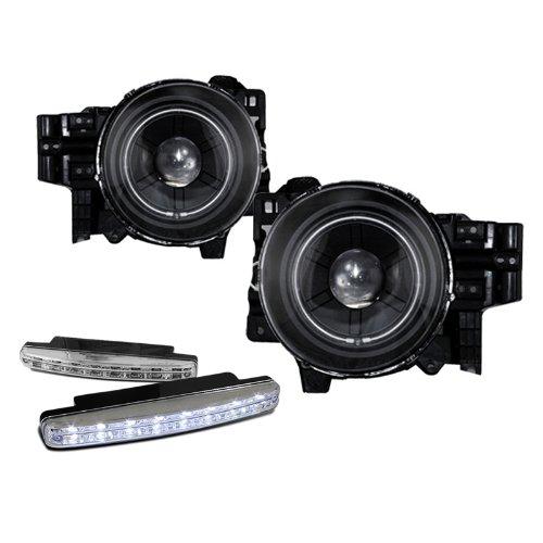 2007-2011 Toyota Fj Cruiser Halo Projector Headlights + 8 Led Fog Bumper Light