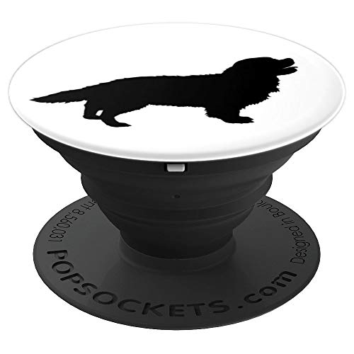 Spaniel Silhouette - Cavalier King Charles Spaniel Silhouette - PopSockets Grip and Stand for Phones and Tablets