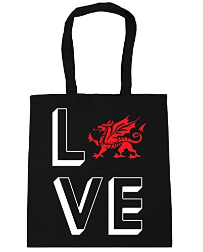 Beach HippoWarehouse Black Tote litres Wales 42cm Love Shopping 10 Gym Bag x38cm 66qRXaA