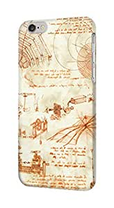 S0566 Technical Drawing Da Vinci Case Cover for Iphone 5 5s