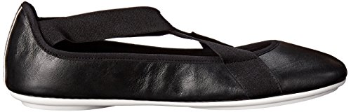 Easy Spirit Mujeres Yandra Flat Black Combo Leather