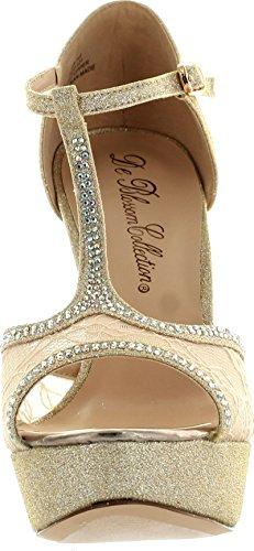 Deblossom Fleur Femmes Vice-121 Demoiselle Dhonneur Parti De La Mode Pompes De Pompes Chaussures Nues