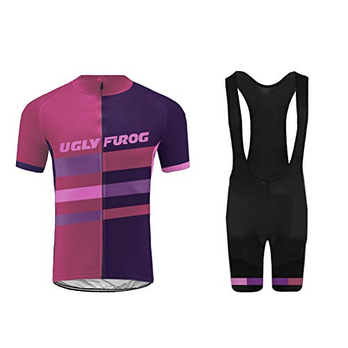 Uglyfrog Cycling Sets - MTB Breathable Short Sleeve Bike Jersey with 3D Gel Pad Bib Shorts for Pro Bici Bicycle Team Clothing HUS19DJT10