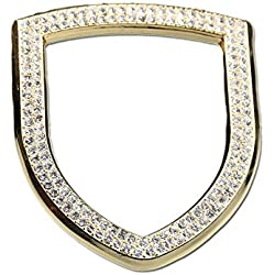1797 Compatible Steering Wheel Logo Caps for Porsche Accessories Parts Trim Covers Decals Stickers Bling Interior Inside Decorations Cayenne Macan Panamera 911 718 Crystal Rhinestone Gold 1 Pack