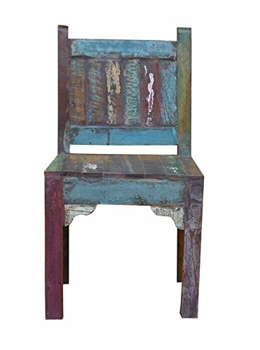 23u0026quot; Rustic Multi Reclaimed Wood Chair Solid Wood Western Cabin Lodge  Restaurant