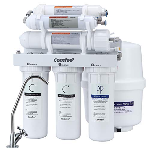 Comfee Easy Installation pH+ 6-Stage Under Sink Reverse Osmosis Water Filtration System -75 GPD (75 Filtration)