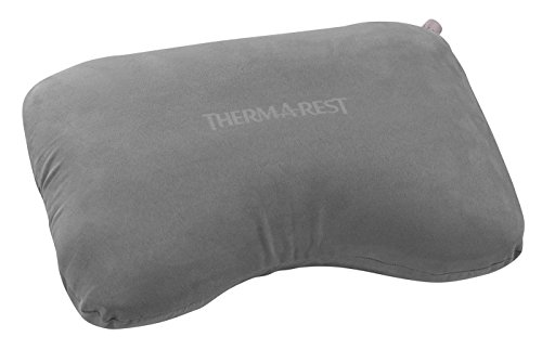 Therm-a-Rest AirHead Inflatable Foam Travel Pillow, Grey