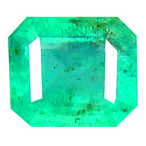 0.62 ct Octagon Cut (5 x 5 mm) Colombian Emerald Natural Loose Gemstone