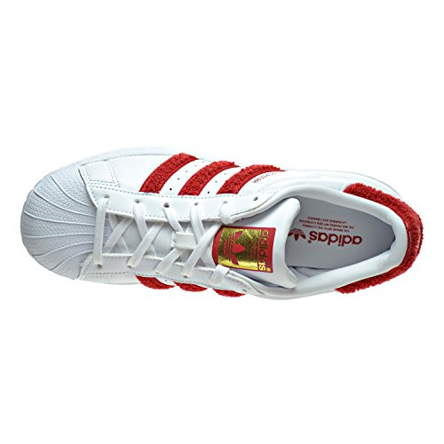 White Superstar Sneakers Adidas Femme W Basses white red dXBBqUwHy