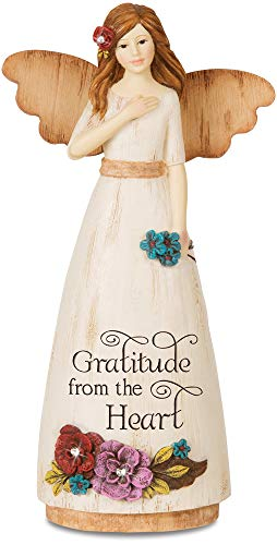 Pavilion Gift Company 03009 Thank You Angel Figurine, 6-Inch (Just For You Willow Tree)