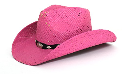 Peter Grimm Gold Coast Sunwear Western Straw Cowboy Hat (Pink with Black  Band) Apparel Accessories Clothing Accessories Hats Cowboys Hats afcb0453dd9