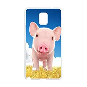 Cute Pig Shell Phone for samsung galaxy note4 White Cover Phone Case