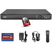 Annke HD-TVI 1080P 16-Channal 4-in-1 Security DVR Recorder System & 2TB HDD Included